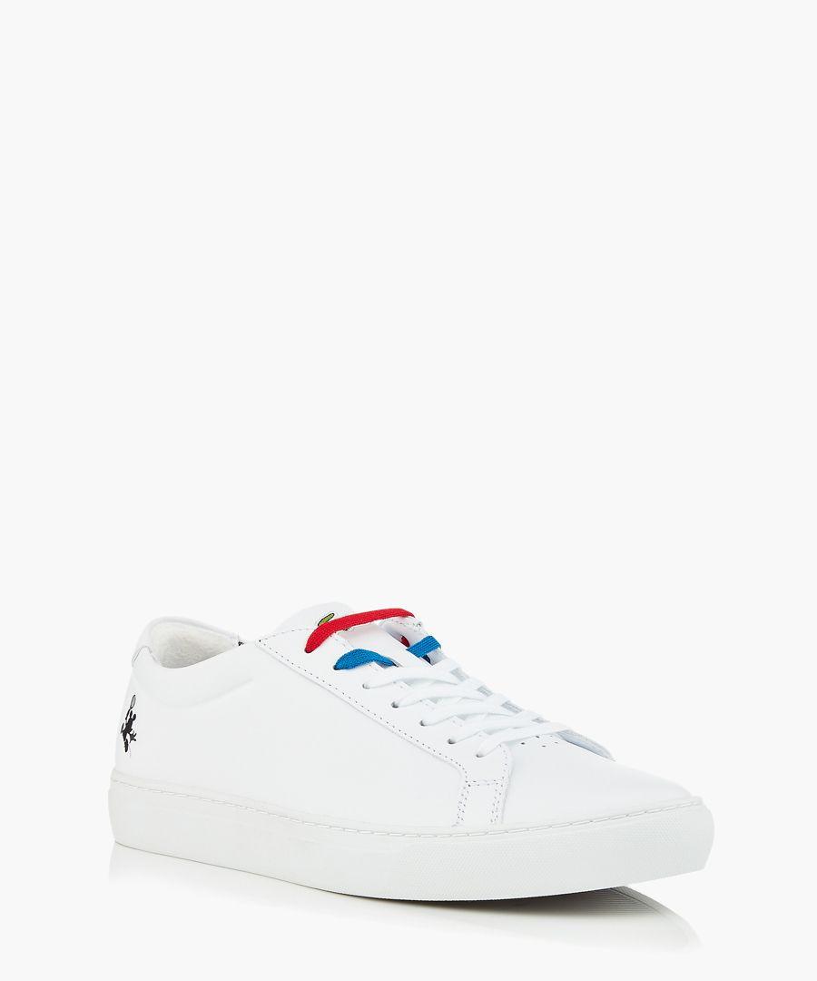 White logo sneakers