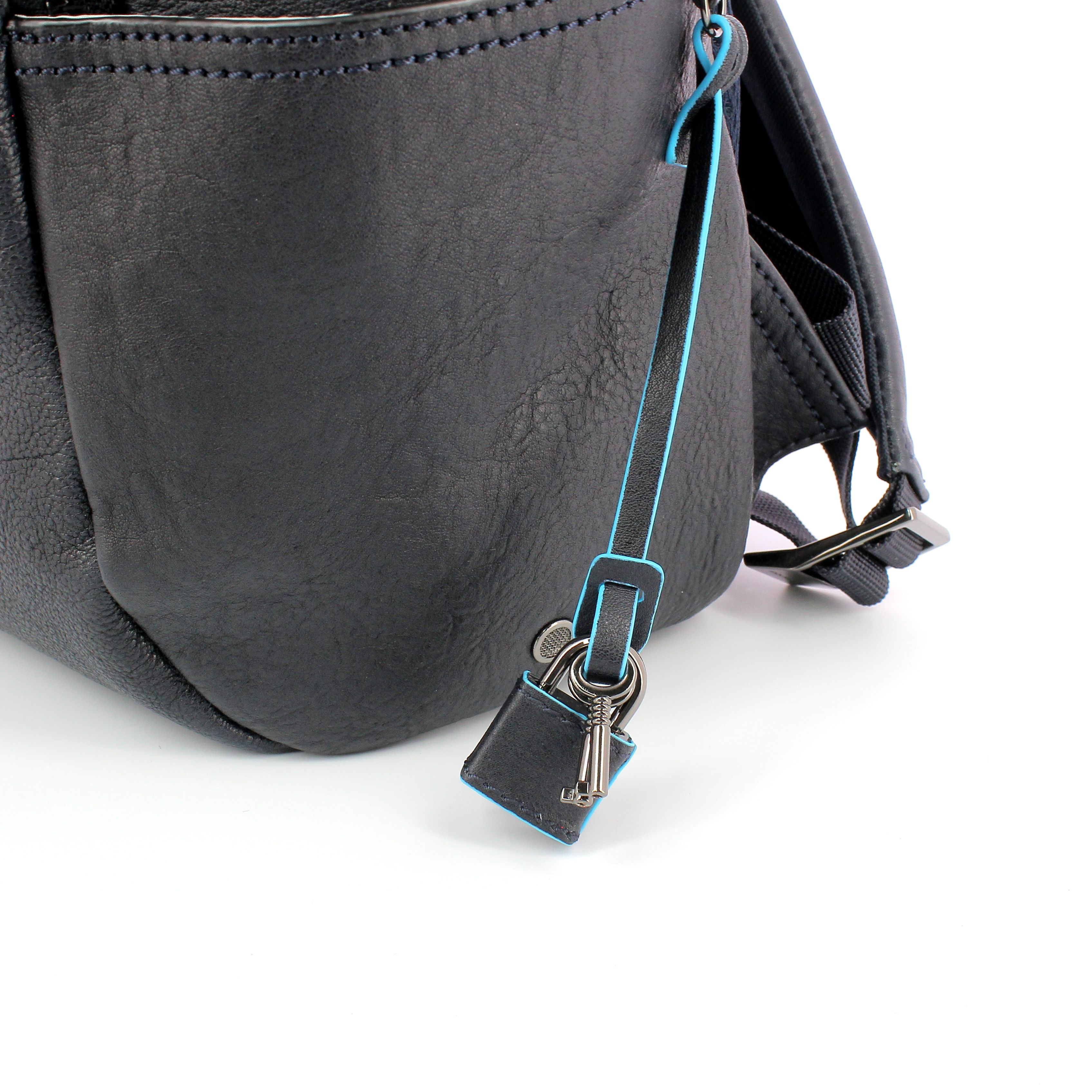 Computer Backpack Black Square 14.0 Piquadro BLU