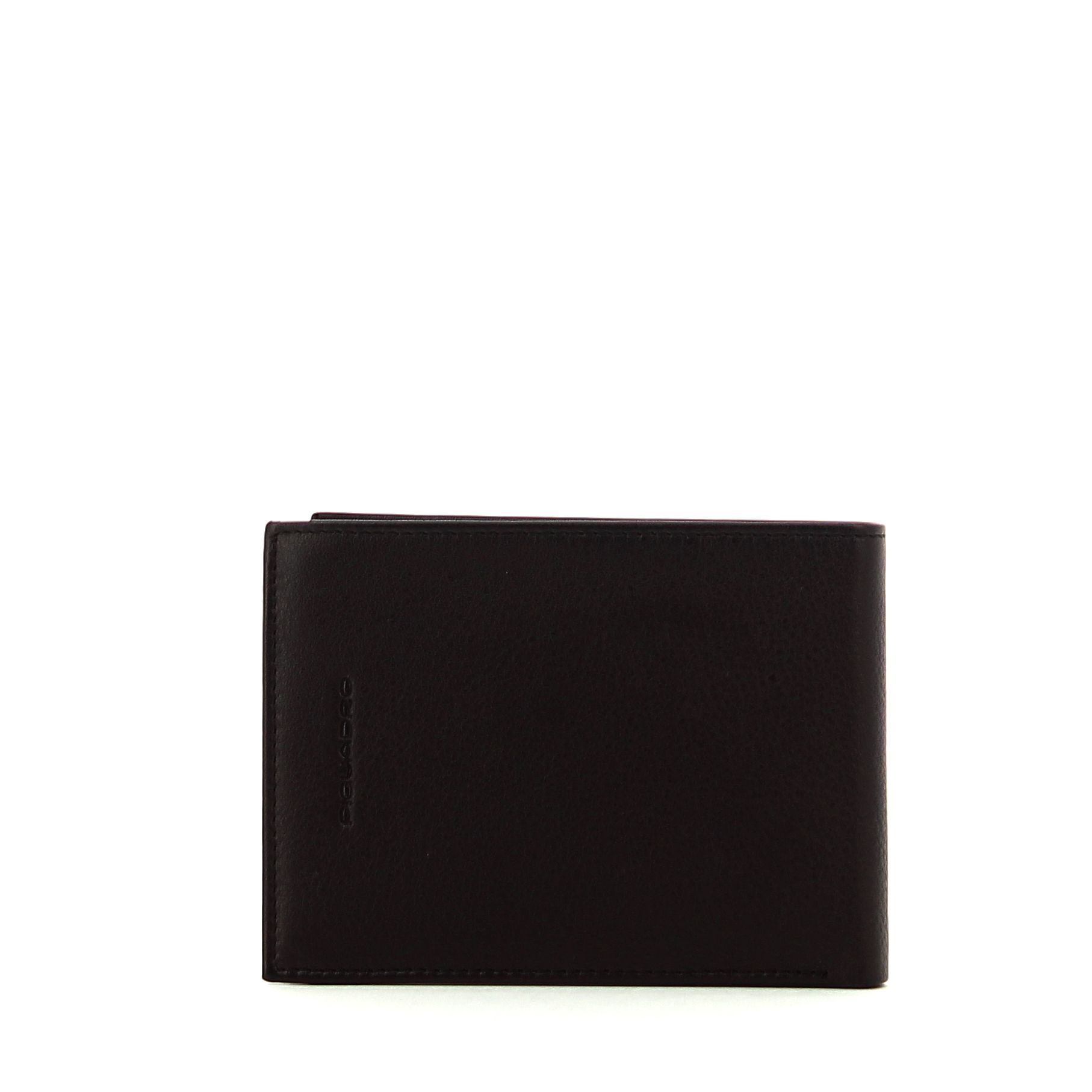 Leather wallet with coin pouch Edge Piquadro TESTA MORO