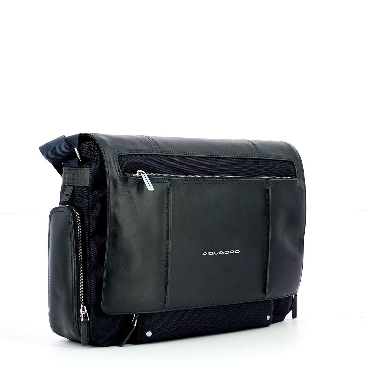 Messenger Bag with laptop sleeve Link 15.0 Piquadro BLU