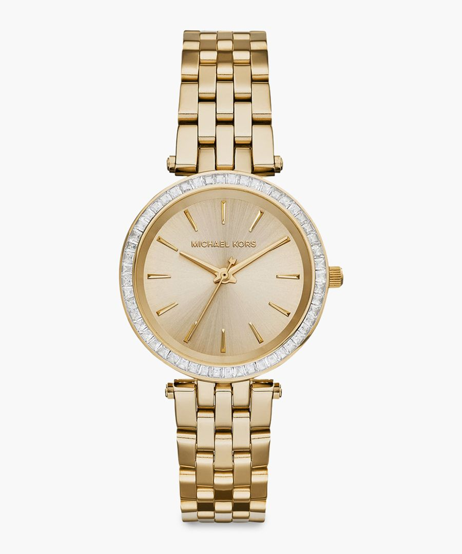 Gold-plated stainless steel watch