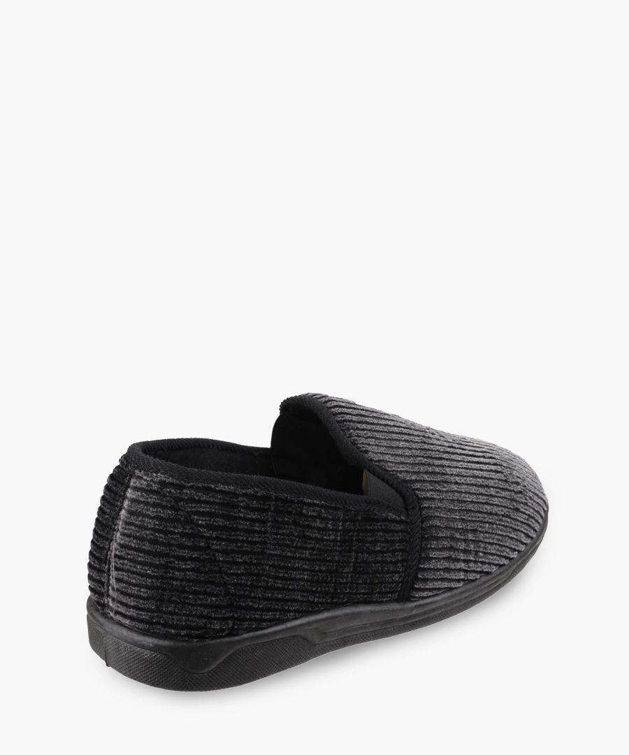 Womens black slippers