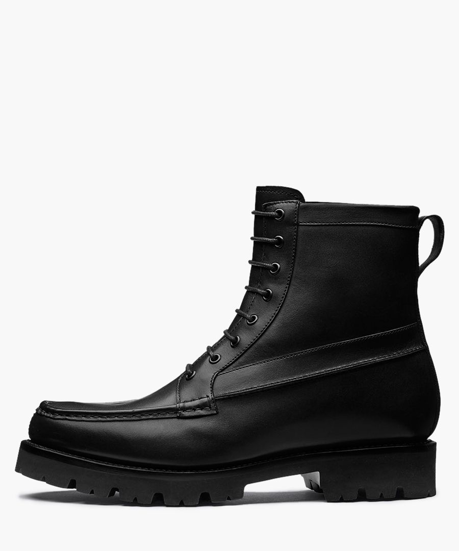 Gulliver black calf leather boots