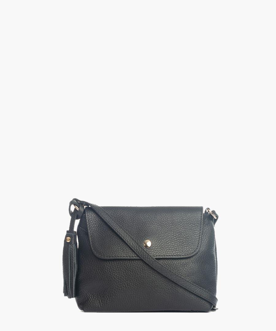 Vinci black leather crossbody
