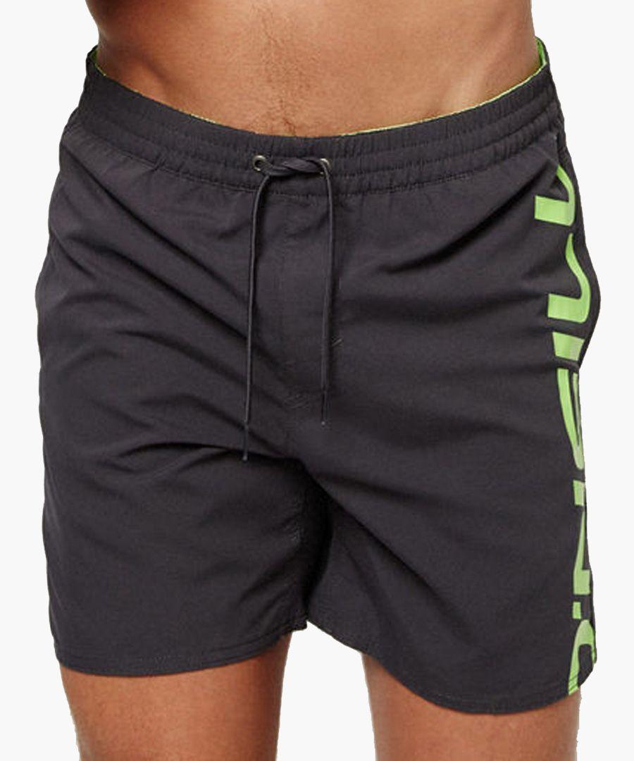 Black logo printed shorts