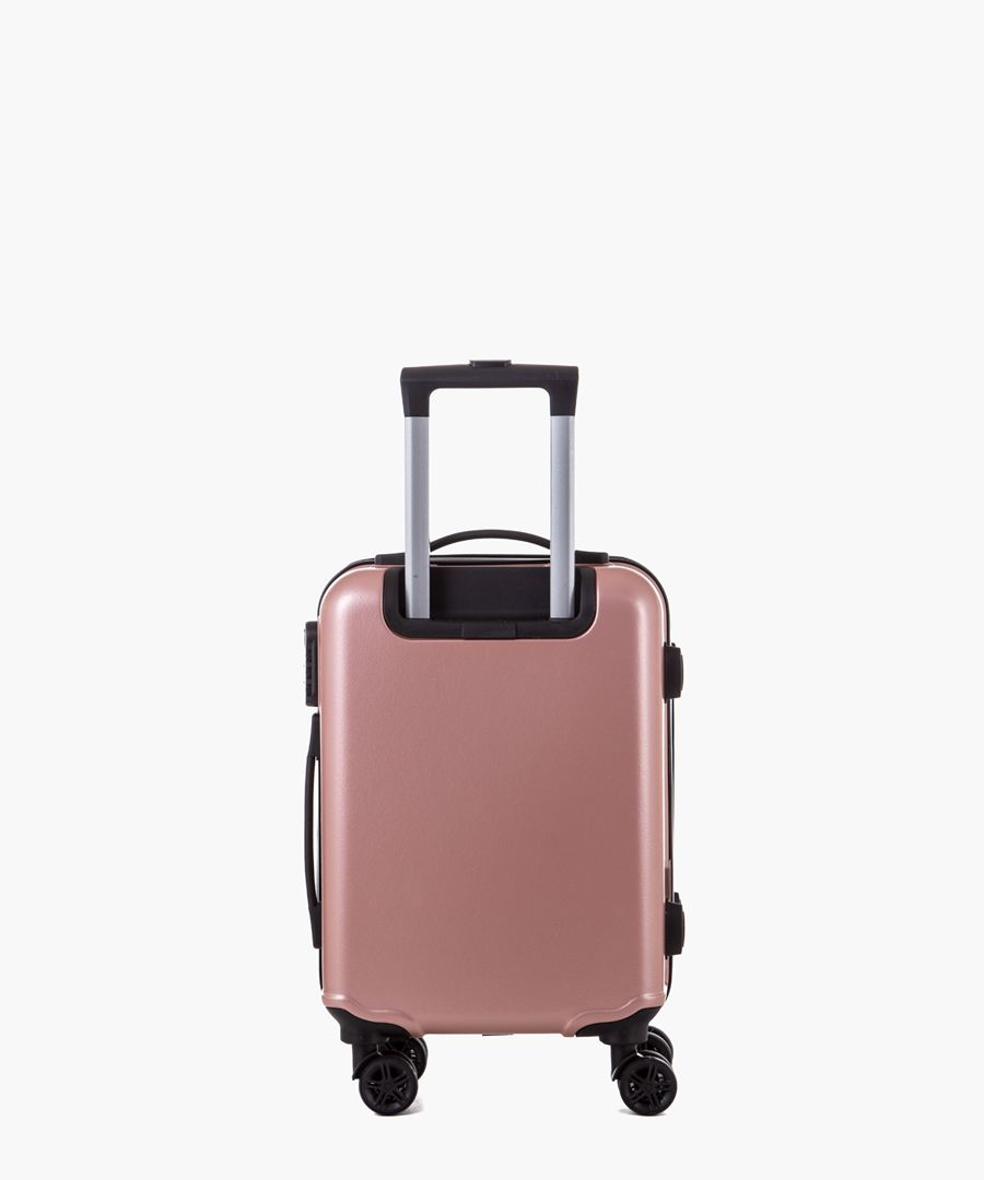 Rose gold-tone cabin spinner suitcase