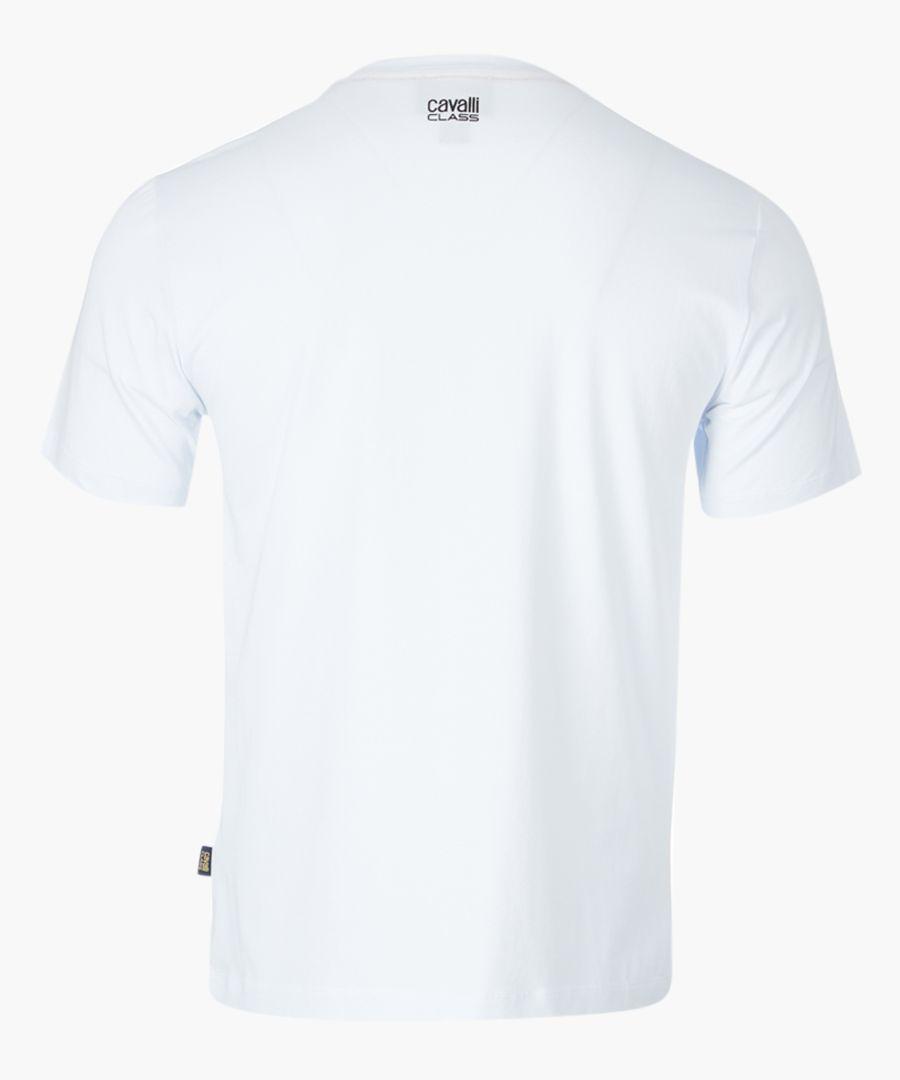 White serpent printed T-shirt