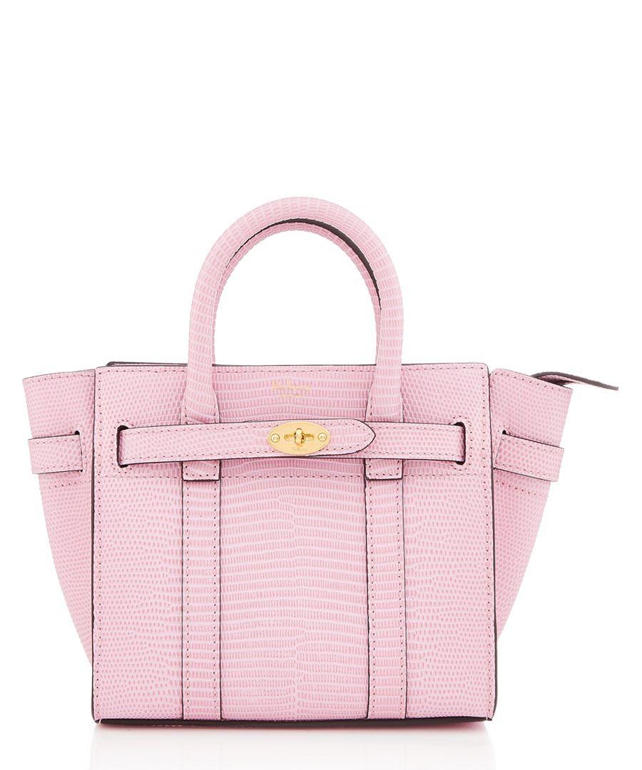 Micro Bayswater pink embossed shopper