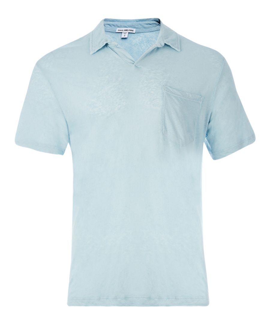 Capri linen & cotton blend polo shirt