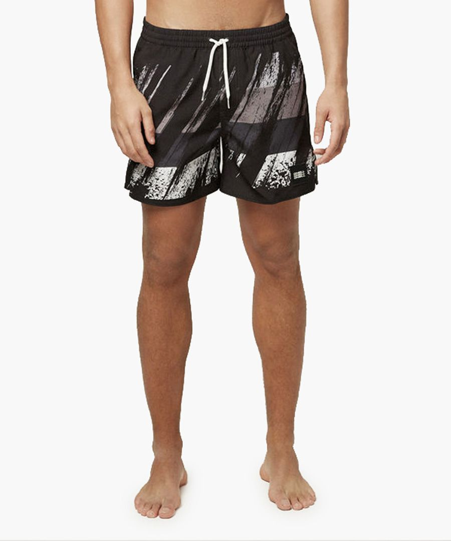 Multi-colour abstract printed shorts