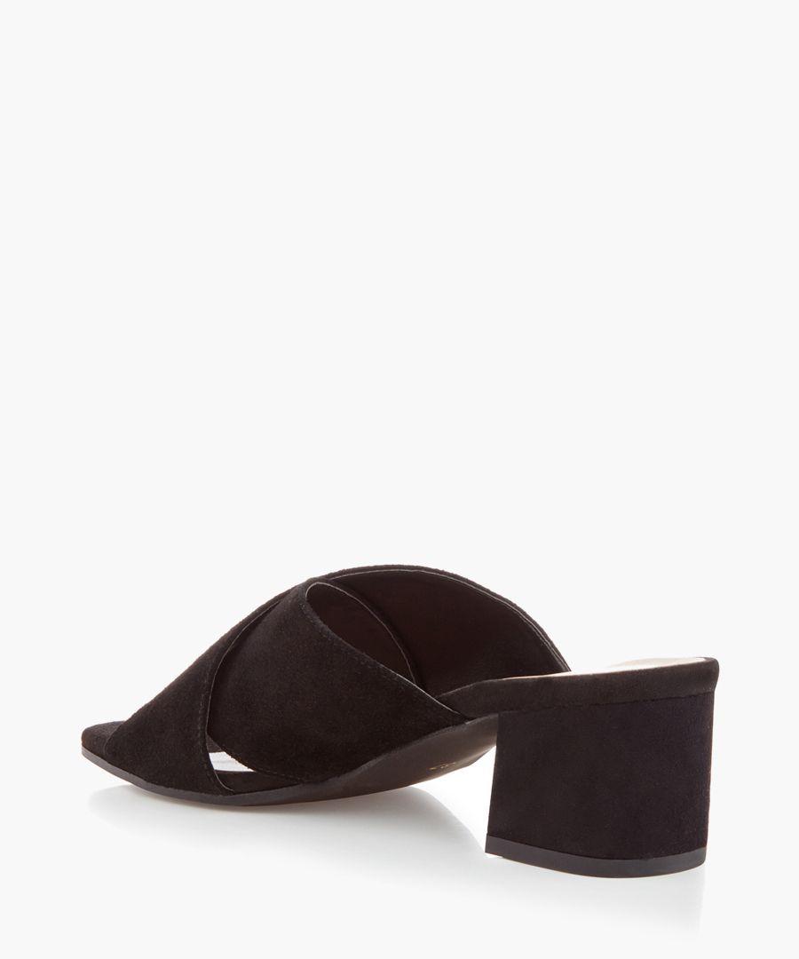 Sienna black crossover mules
