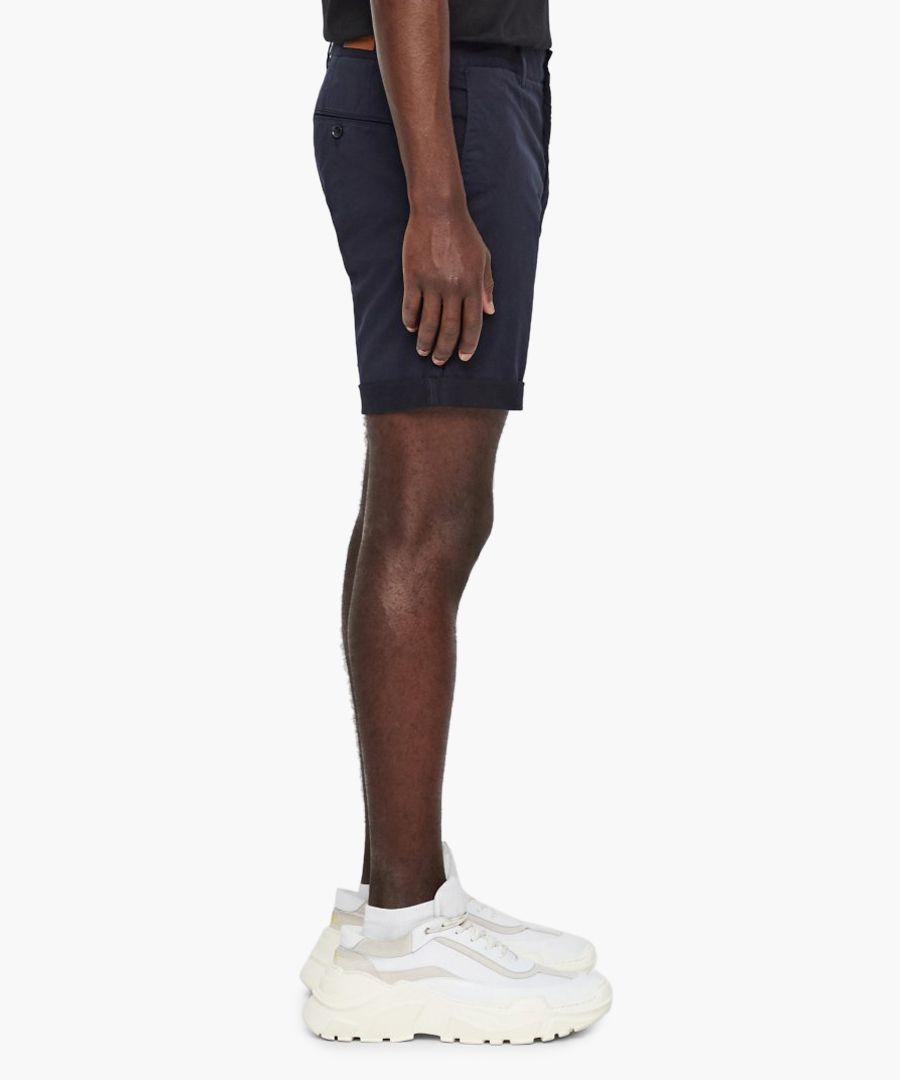 Nathan navy cotton shorts
