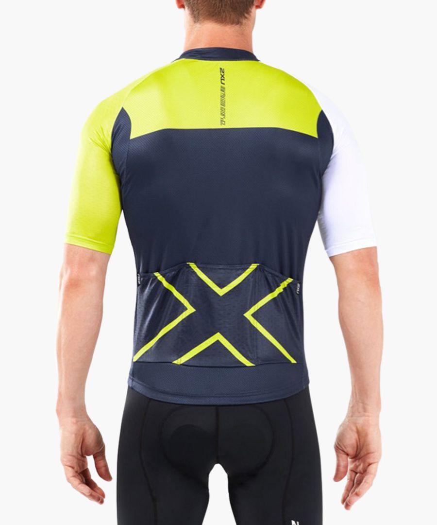 Elite navy panel cycle jersey
