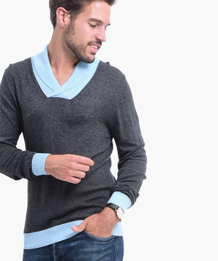 Grey cashmere blend jumper