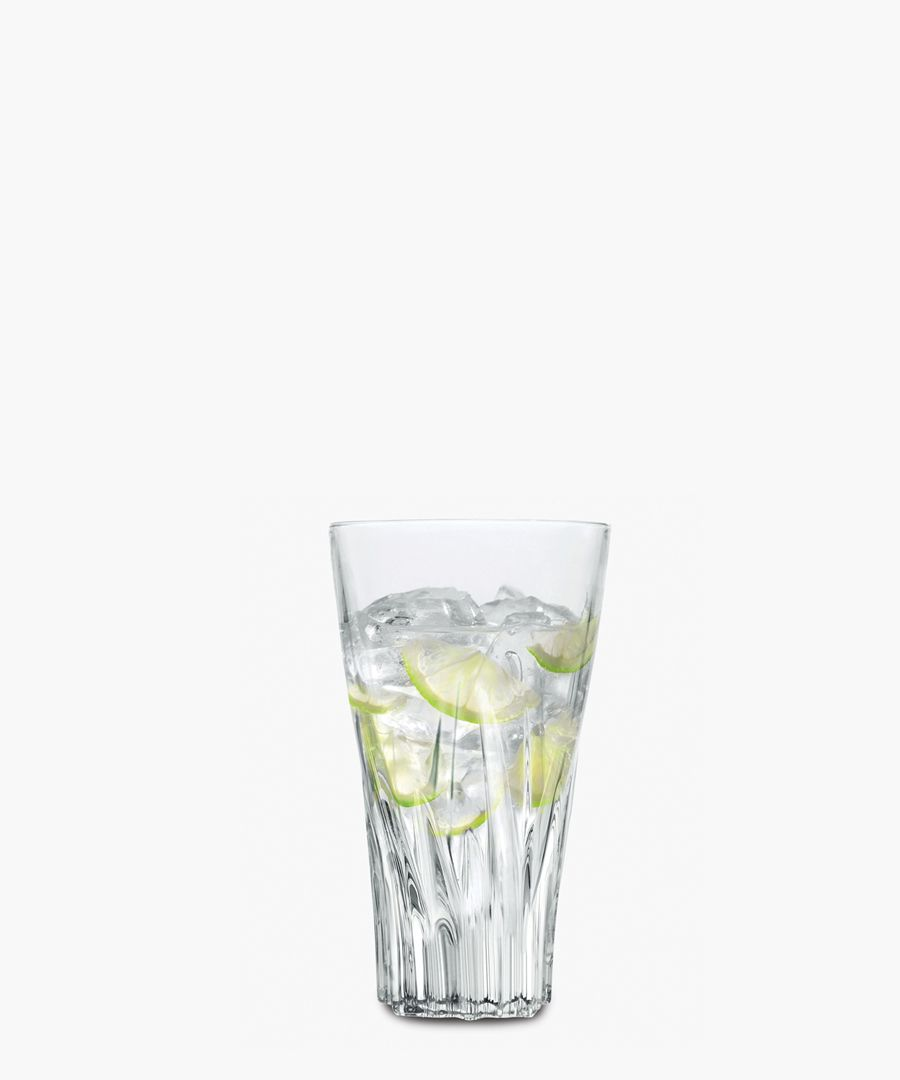 6pc Fluente Crystal hi-Ball cocktail water tumblers glasses 400ml