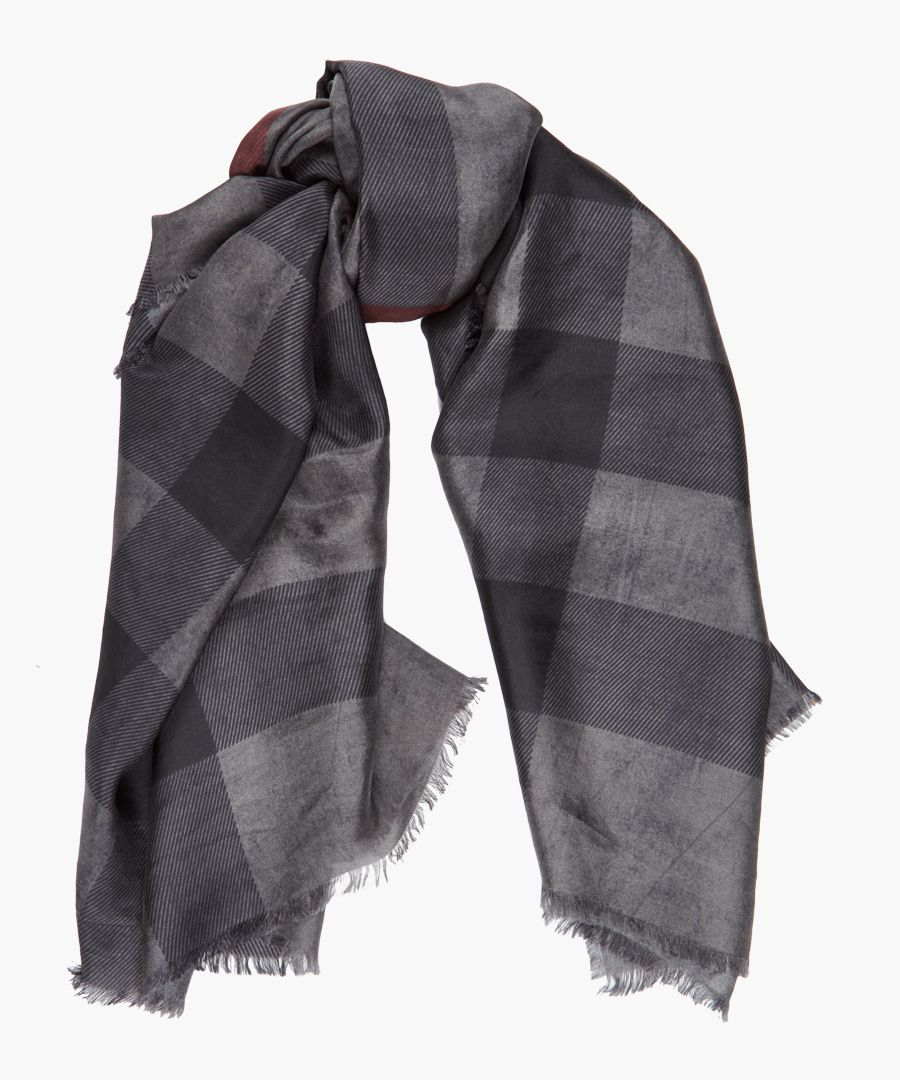 Charcoal pure silk scarf