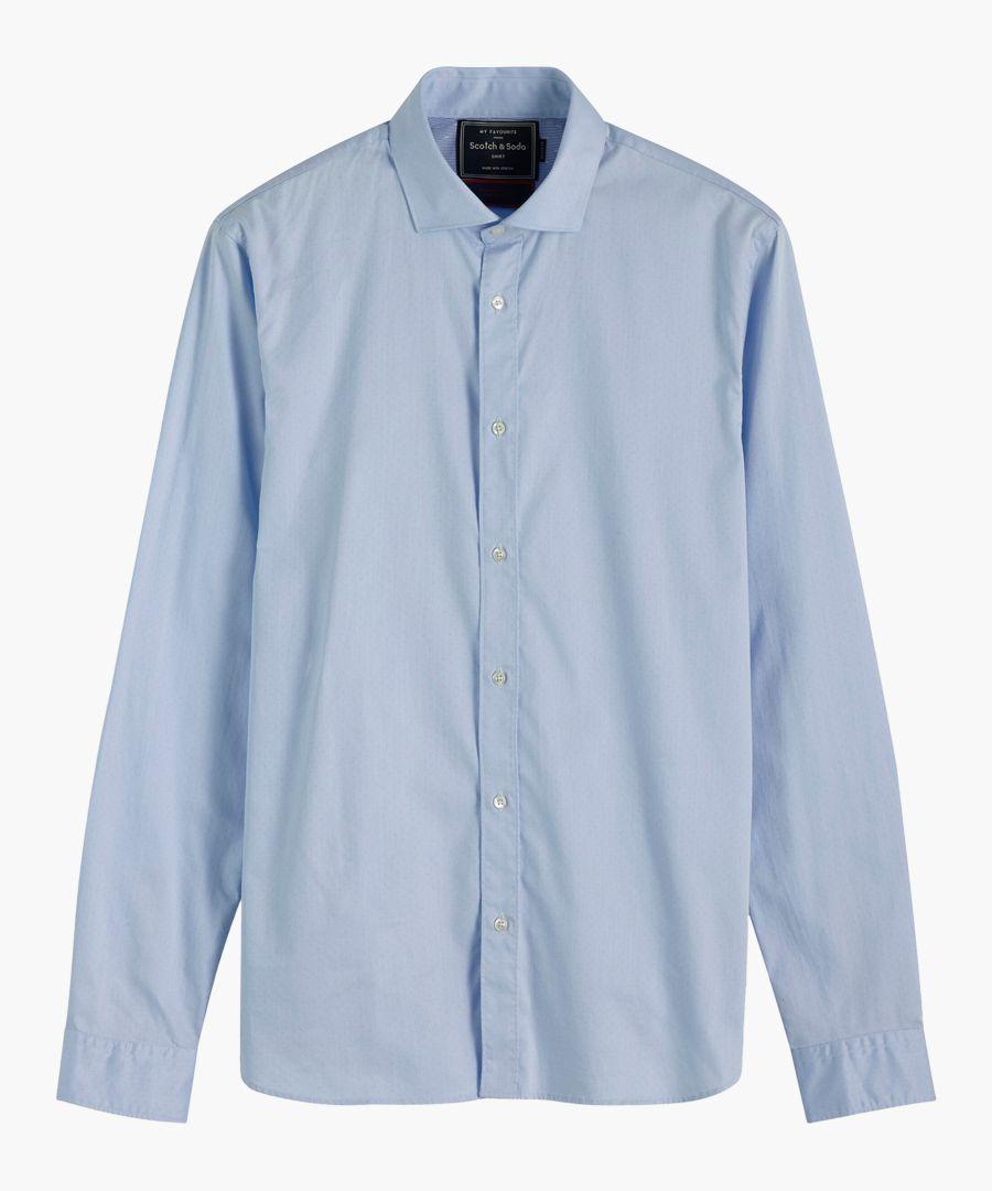 Multi-coloured stretch cotton classic dress shirt