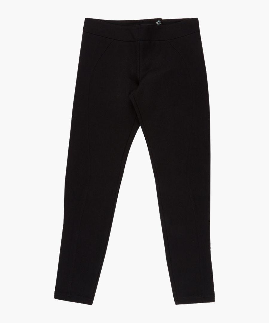 Black cotton blend jeans