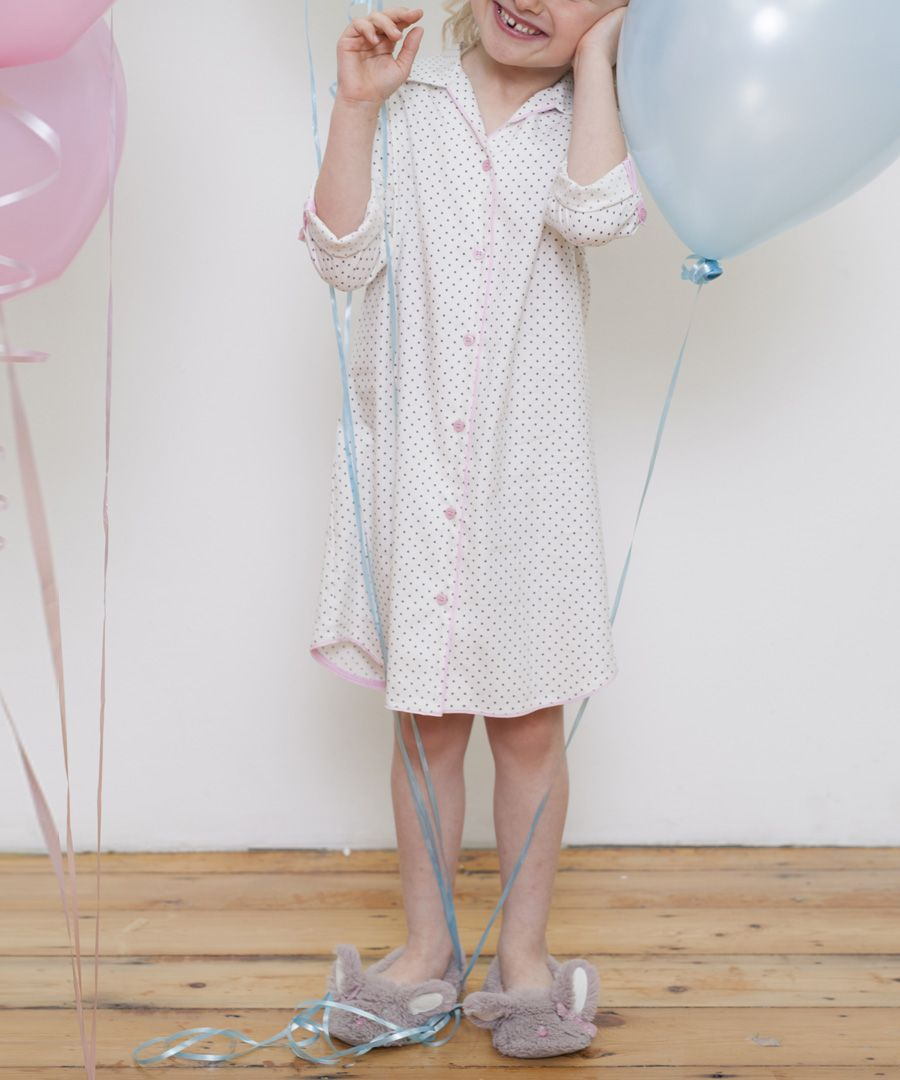 Louisa grey cotton-blend spotted shirt dress