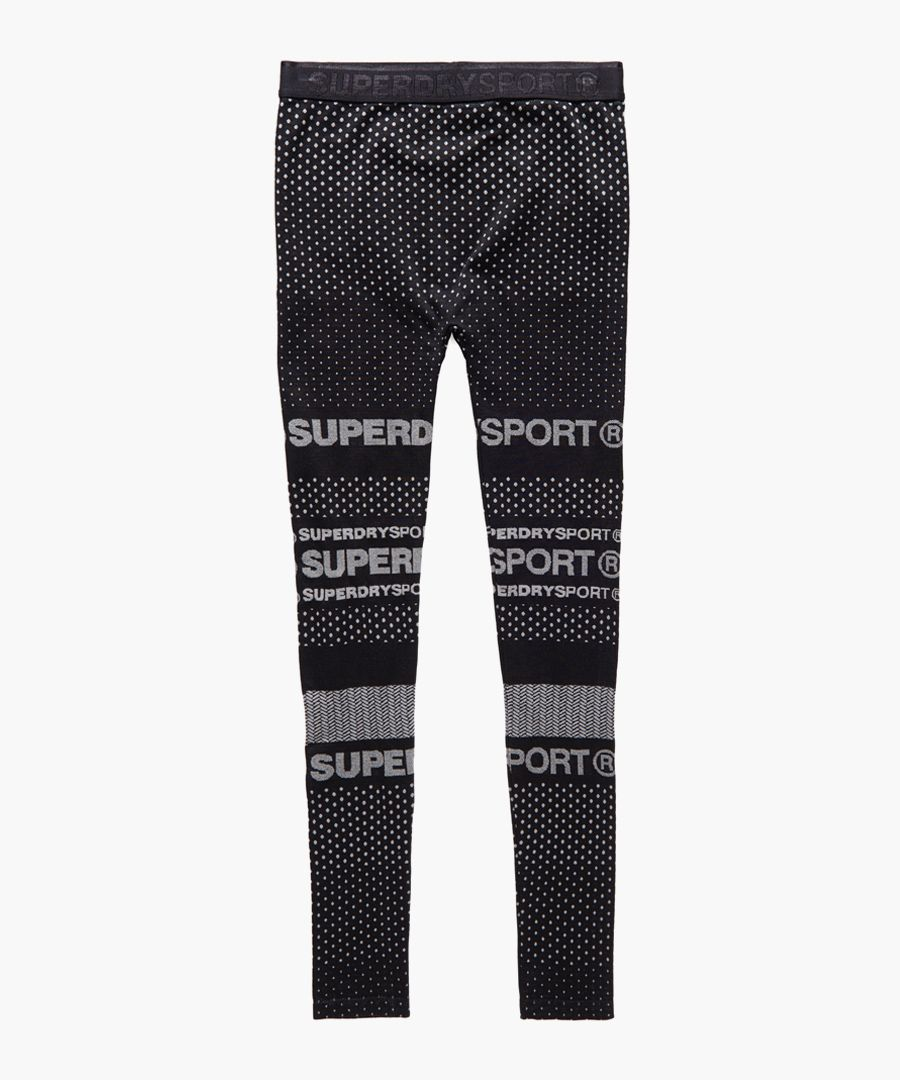 Black Superdry Gym Seamless Legging