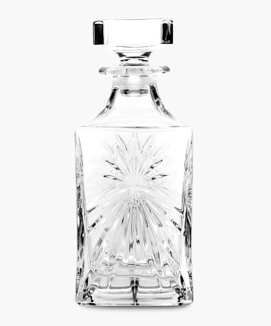 Crystal glassware Oasis Square whisky and wine decanter