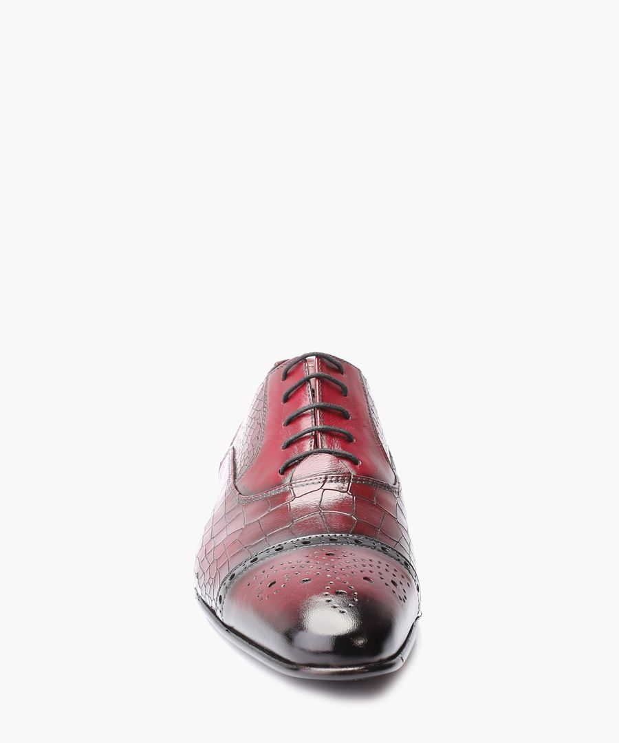 Bordeaux leather Derby shoes