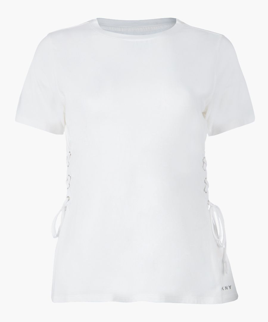 White side lace-up T-shirt
