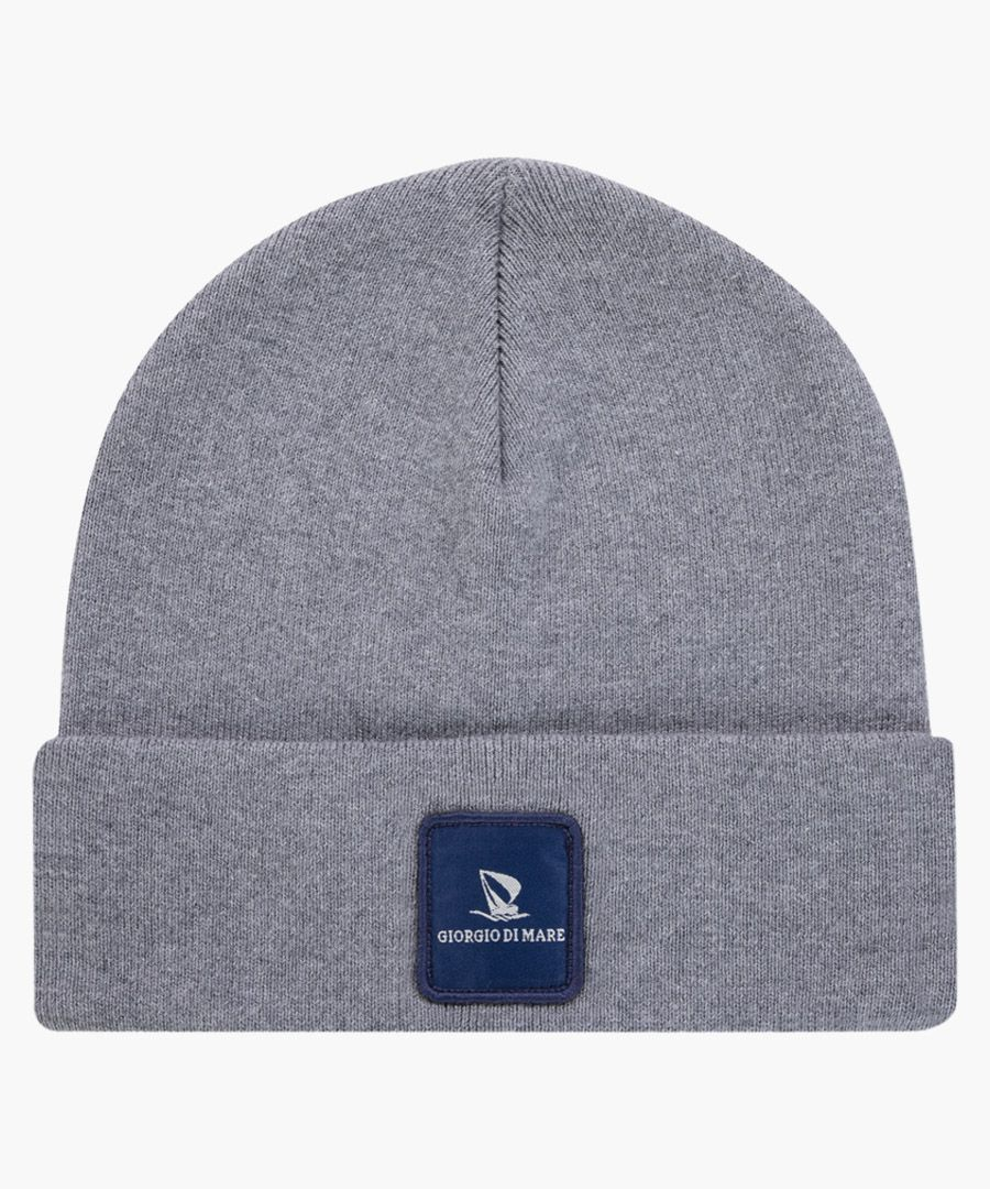 Anthracite pure cotton hat