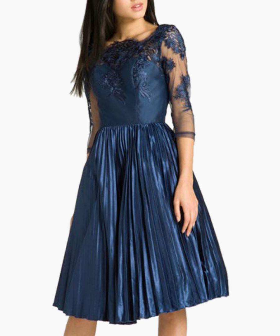 Cadence navy knee-length dress