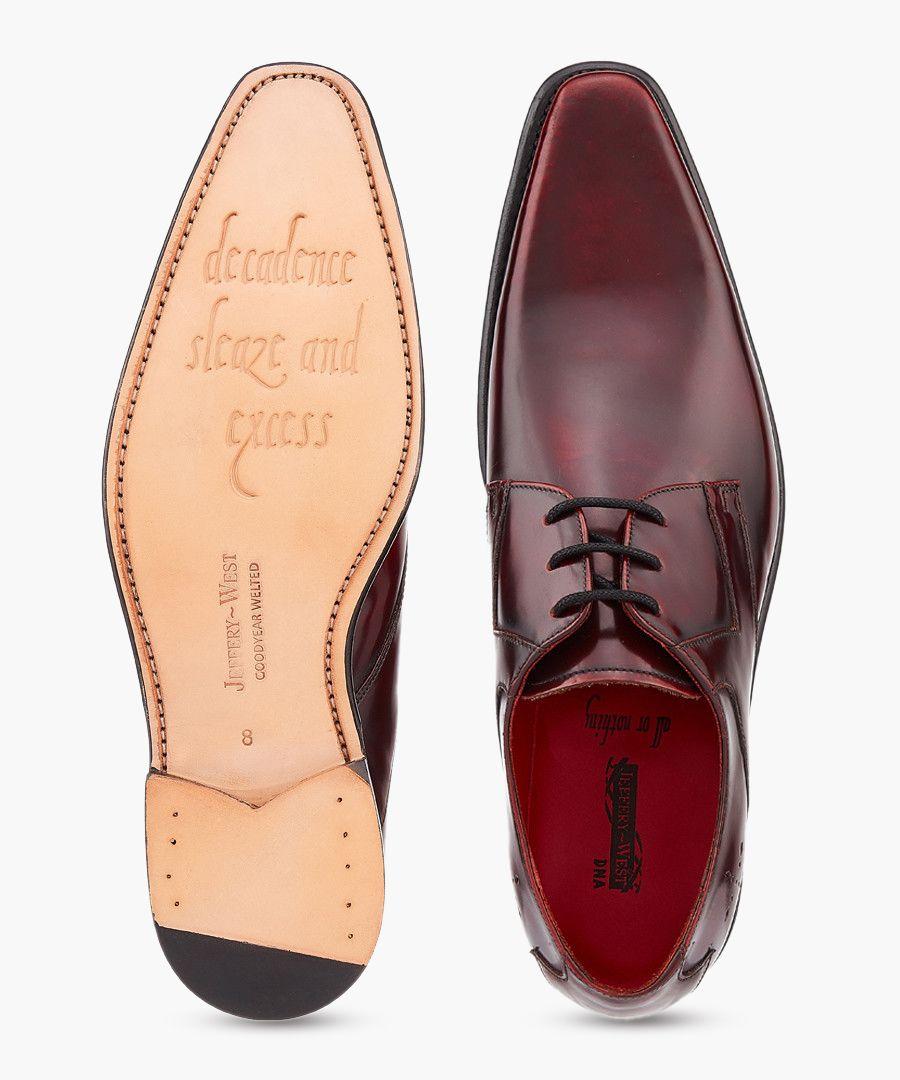 Hemmings Yardbird damson leather Derbys