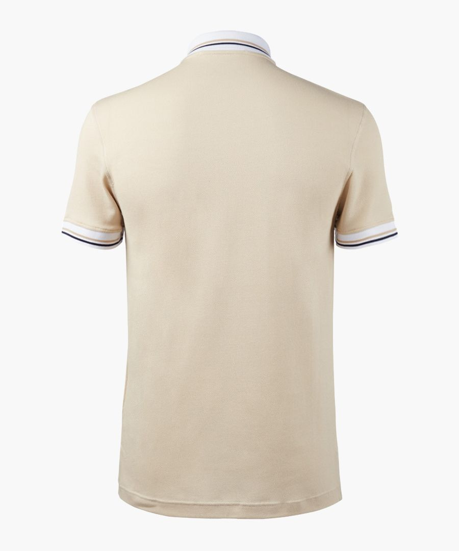 Beige polo shirt
