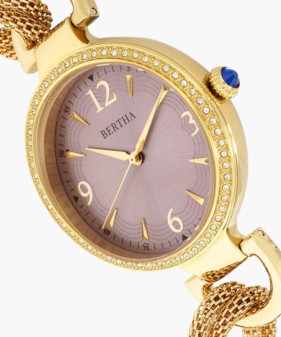 Sarah gold-tone watch