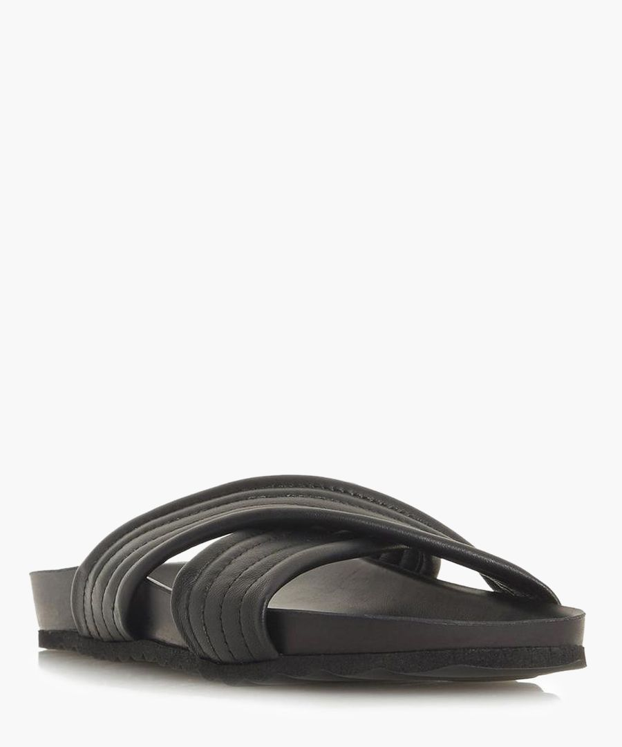 Linate black casual slip-on flats