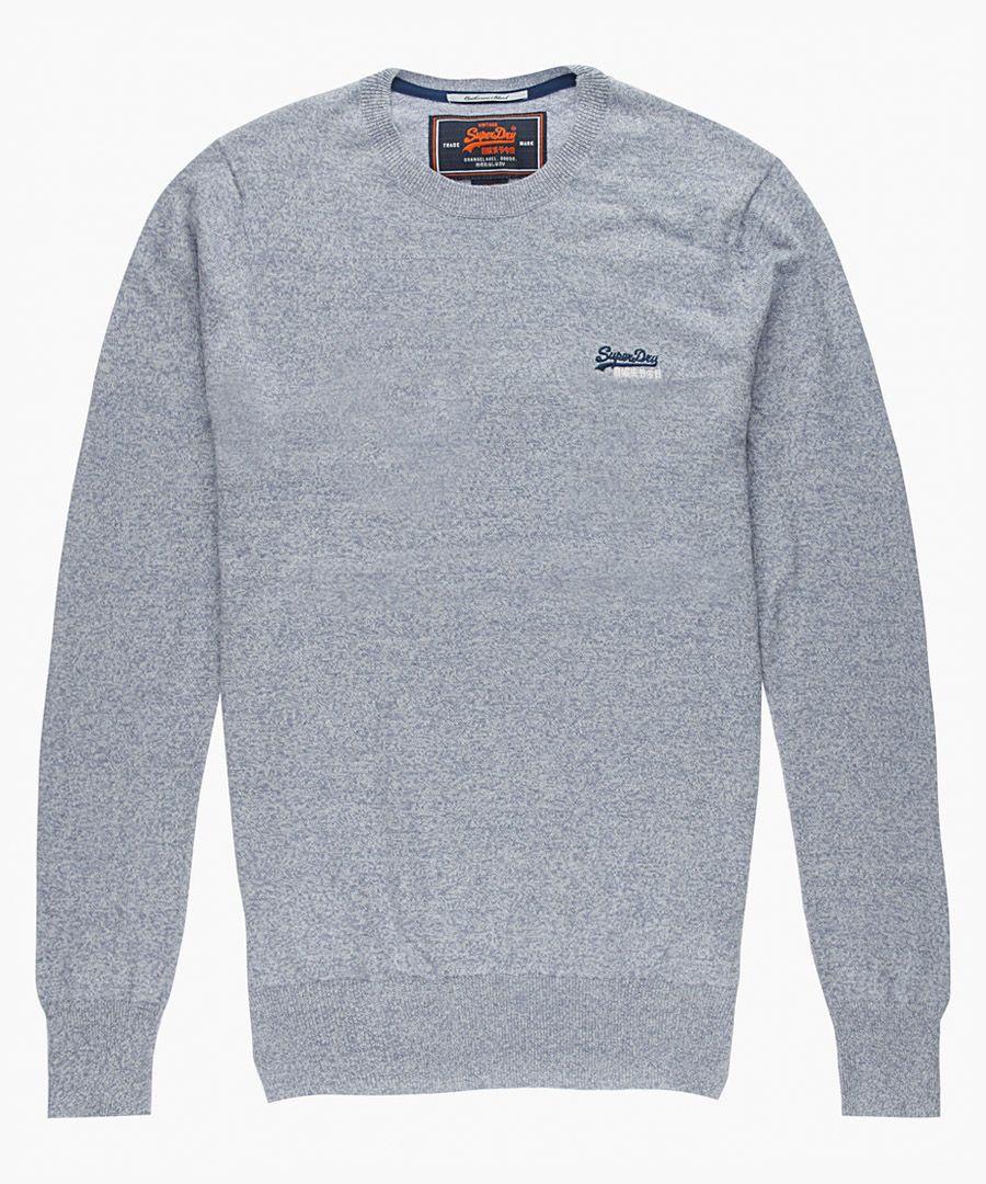 Orange Label grey cotton blend crewneck top