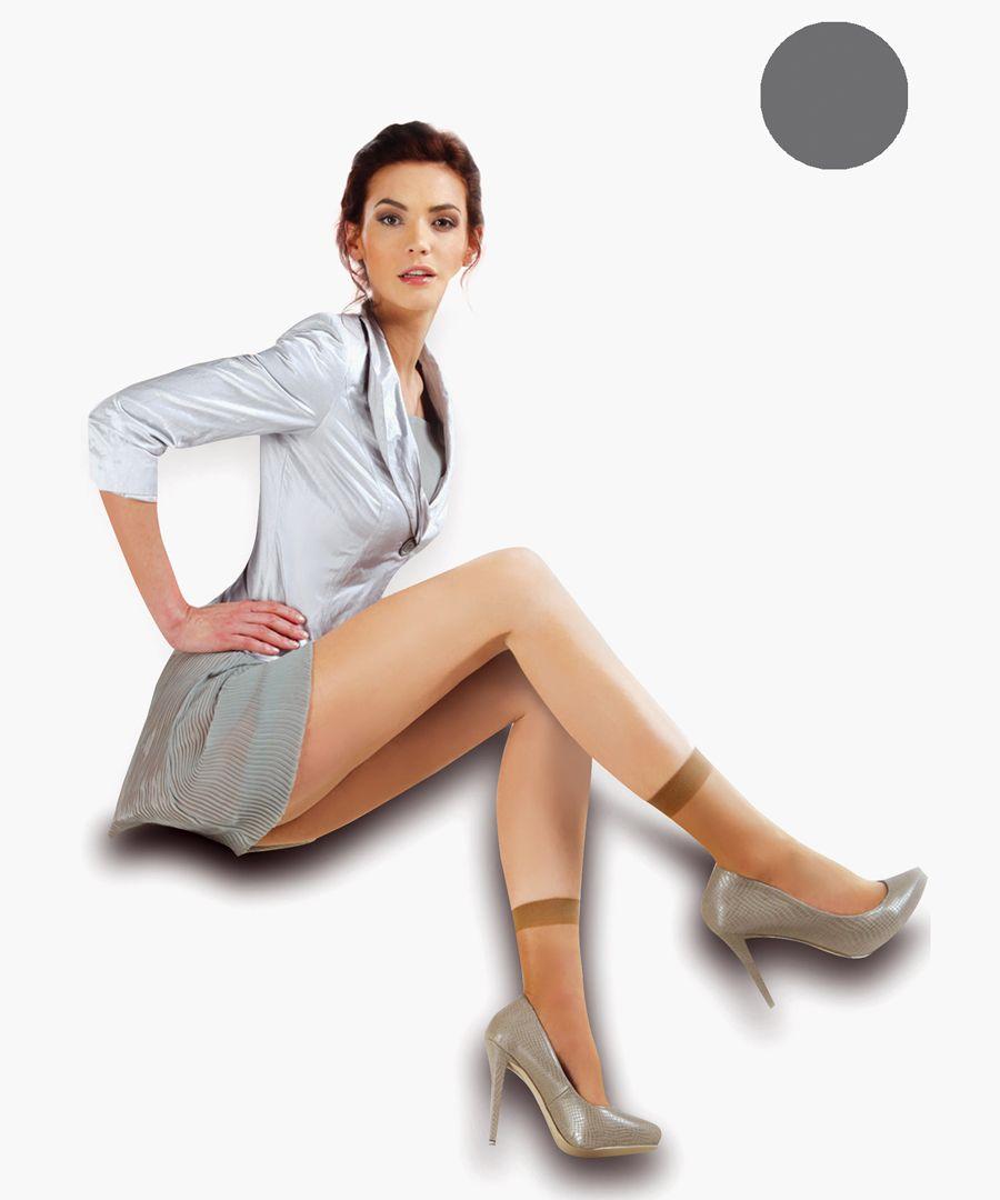2pc graphite ankle socks 15 denier