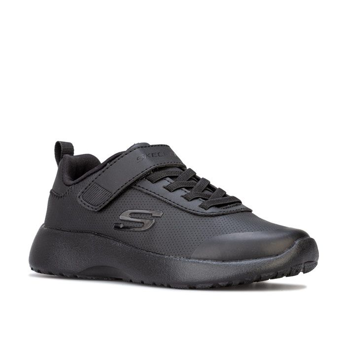 Boy's Skechers Junior Dynamight Day School Trainers in Black