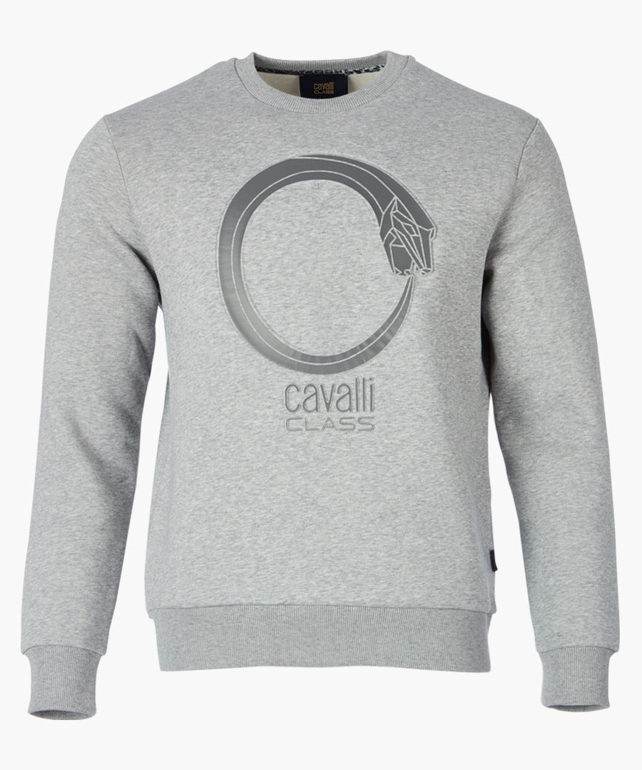 Grey serpent branded sweater