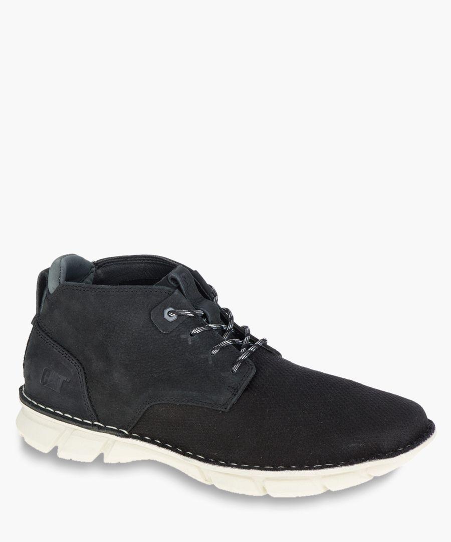 Almanac black mesh ankle boots