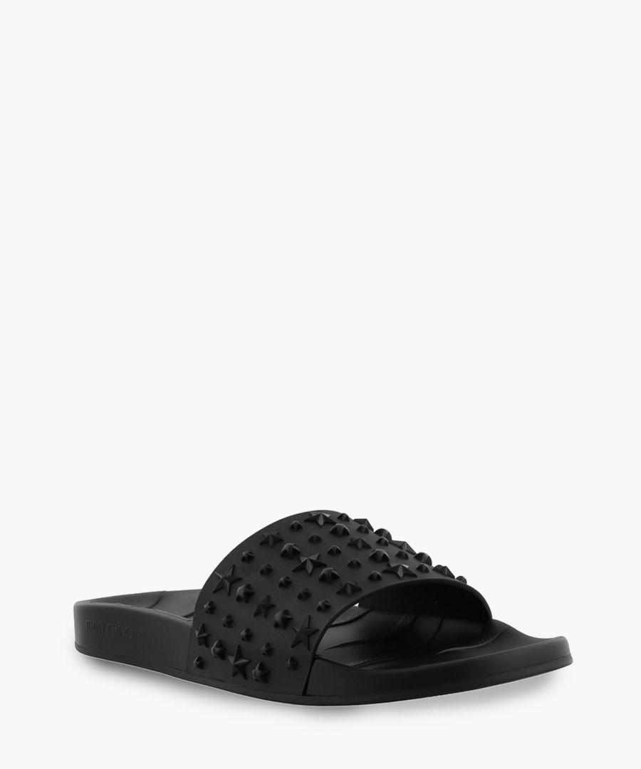 Rey black rubber sliders