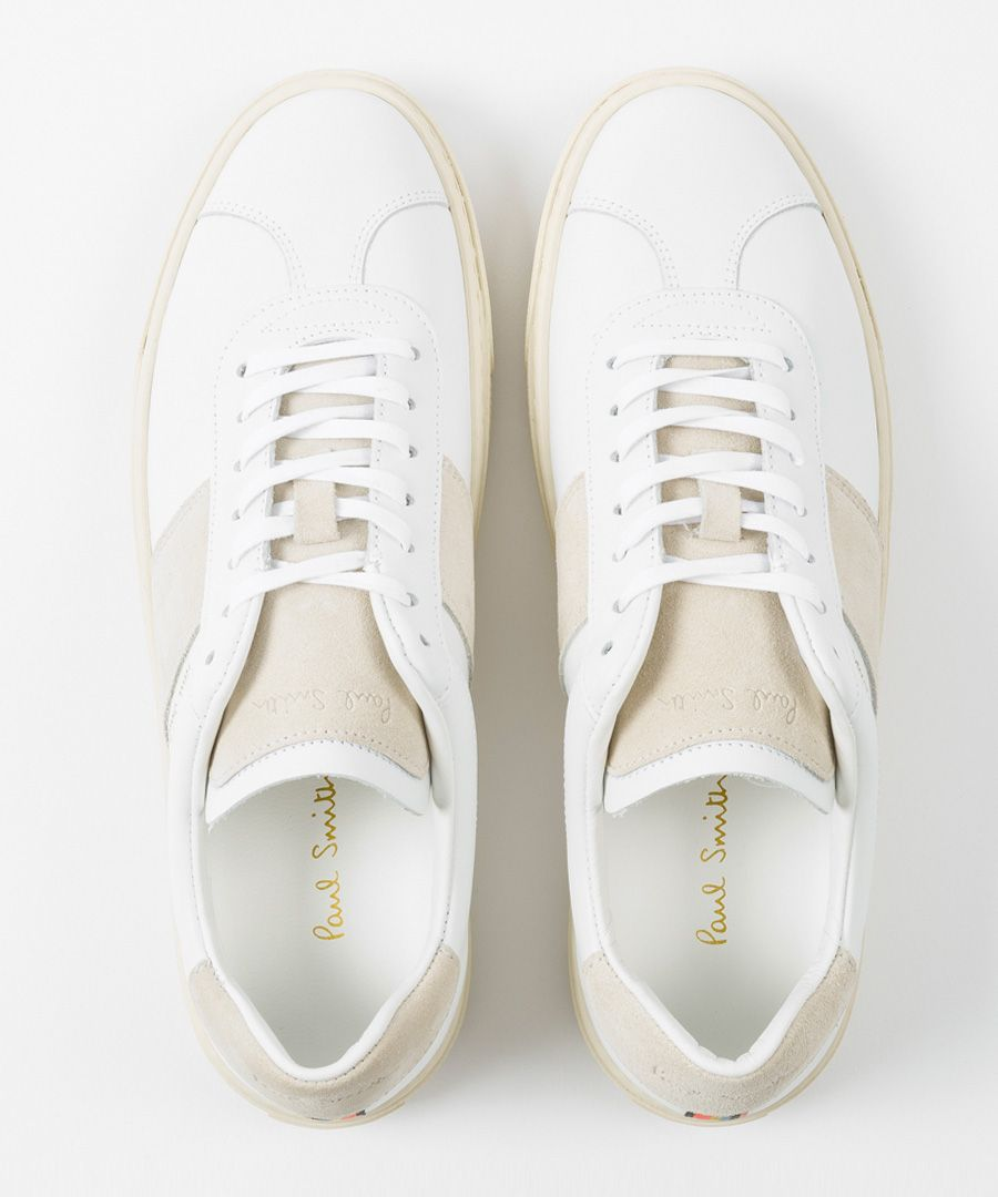 White leather contrast sneakers