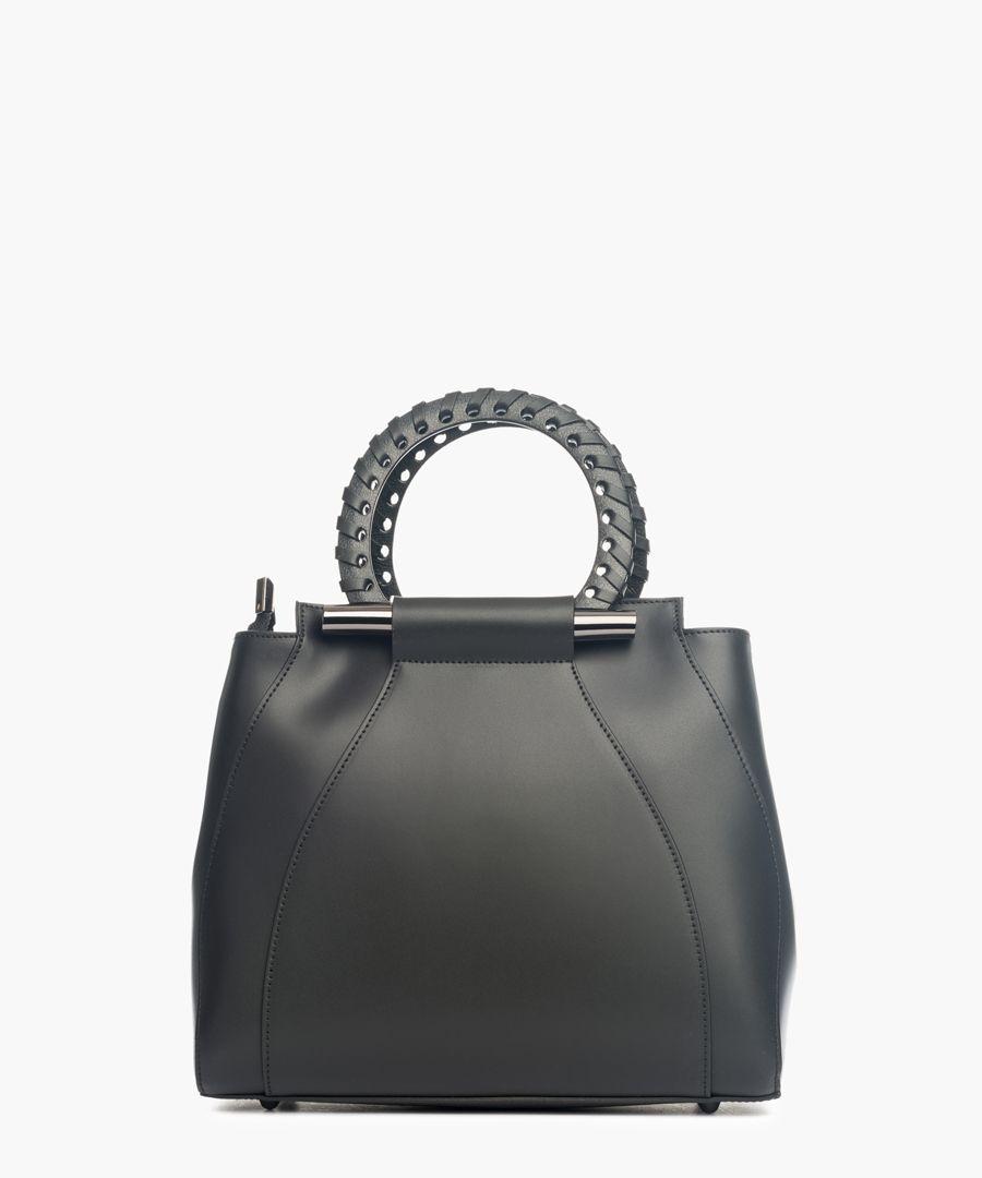 Serra Dolcedorme black leather grab bag