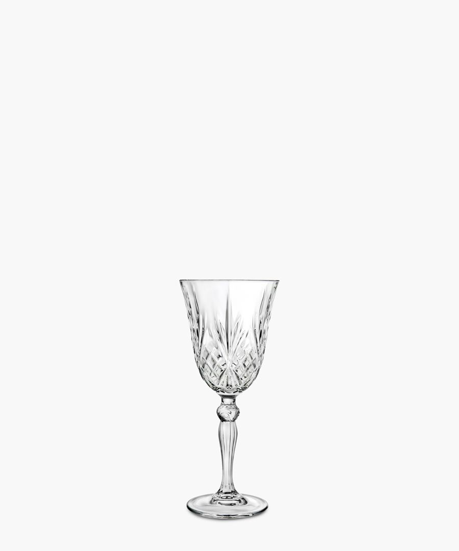 6pc Melodia Crystal wine glasses set