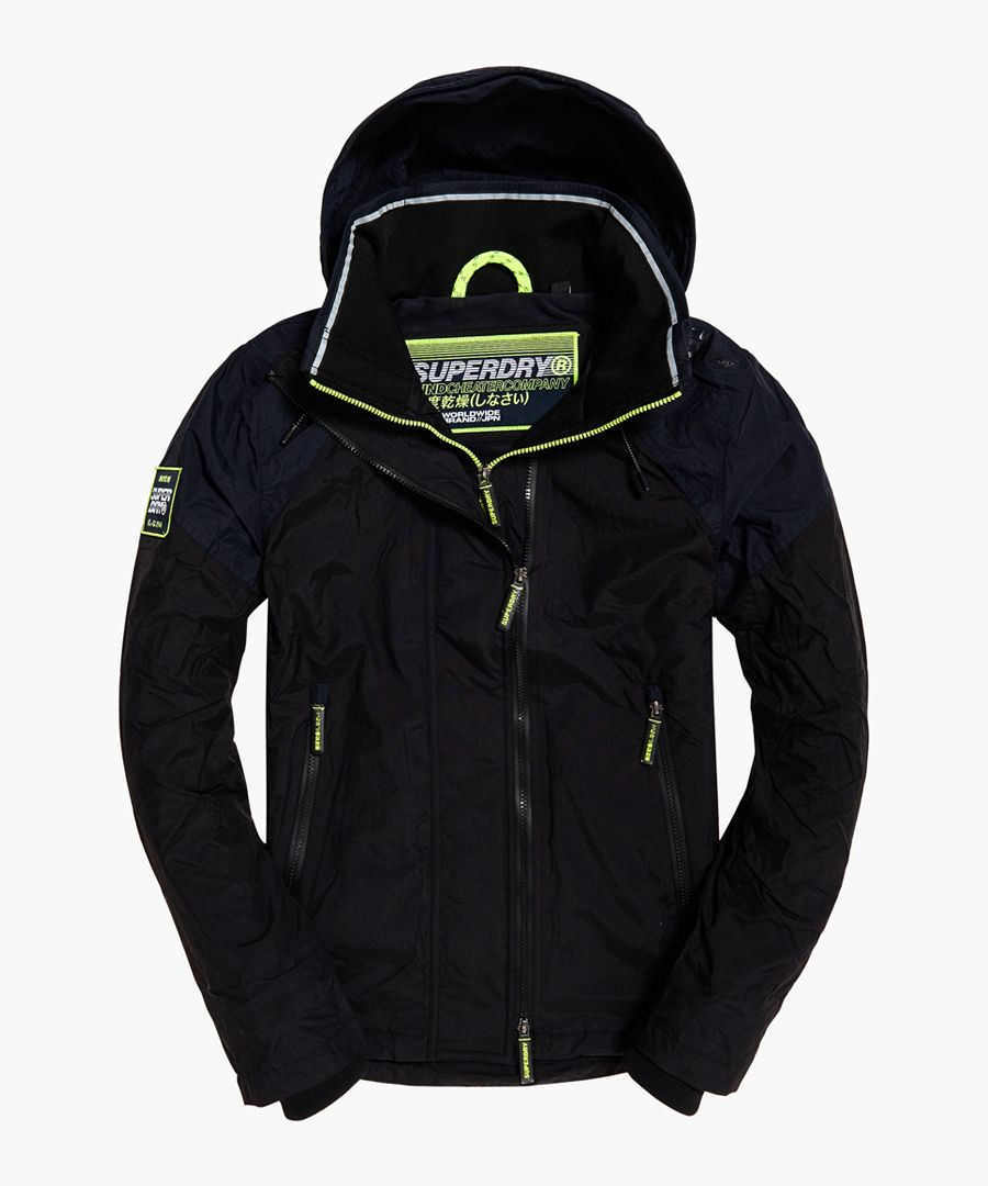 Windcheater Arctic Intron blue hooded jacket