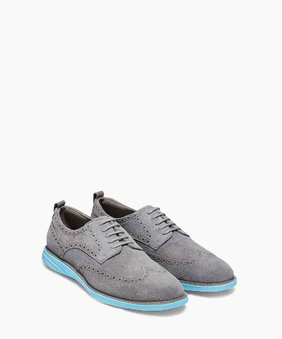 Mens grey Oxford shoes