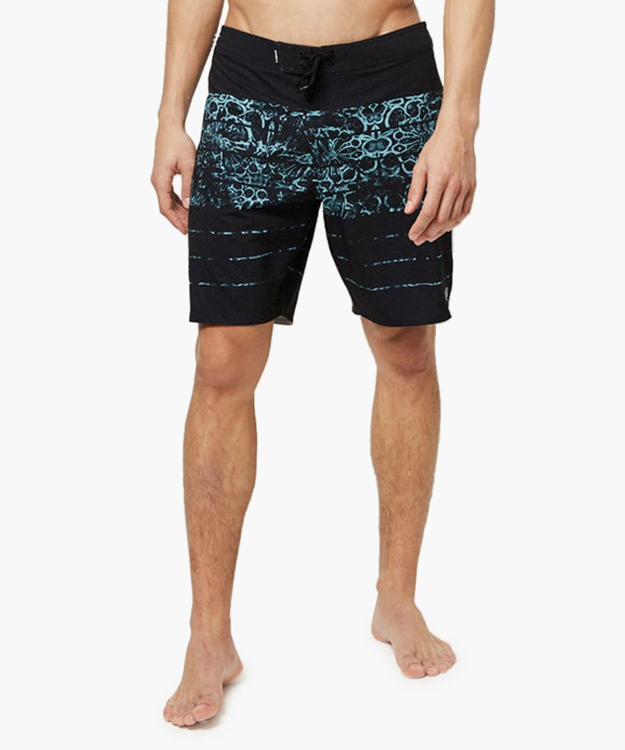 Blue abstract printed shorts