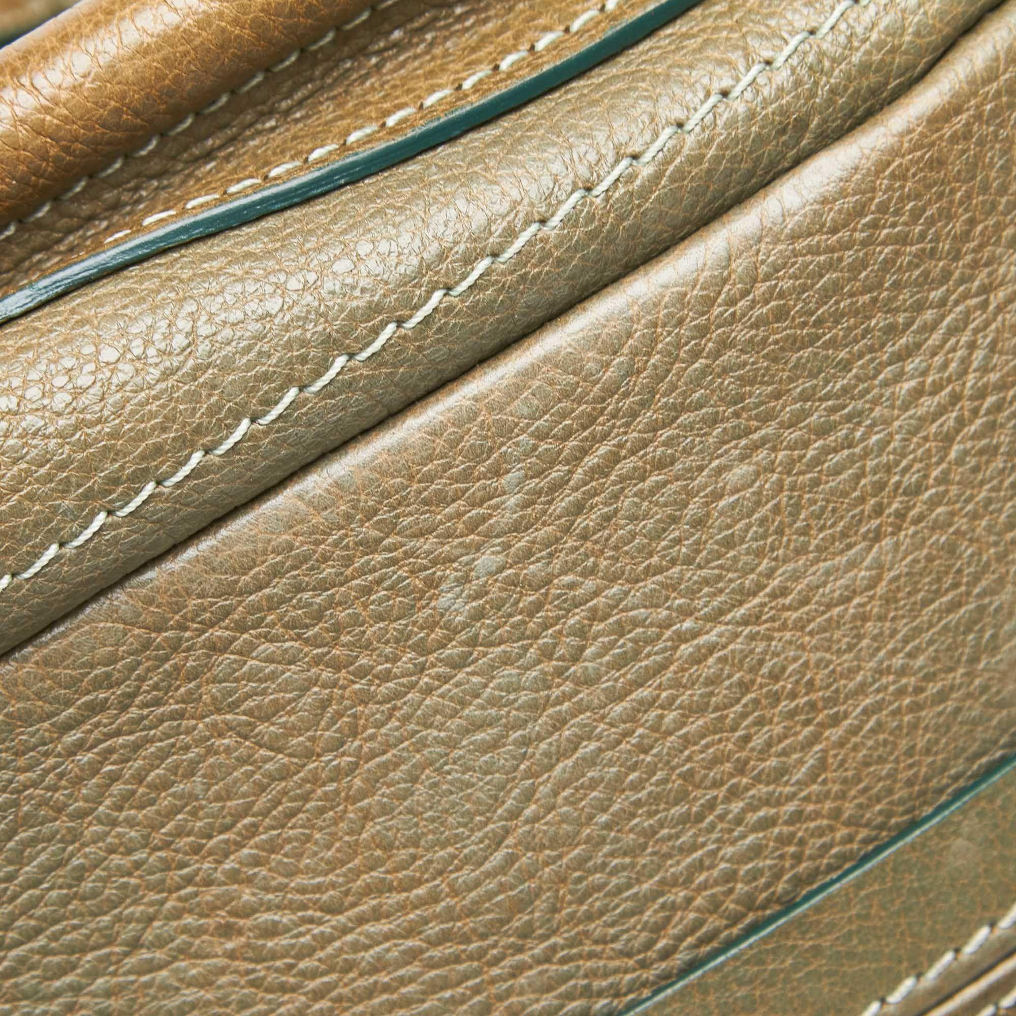 Vintage Chloe Leather Paraty Satchel Brown