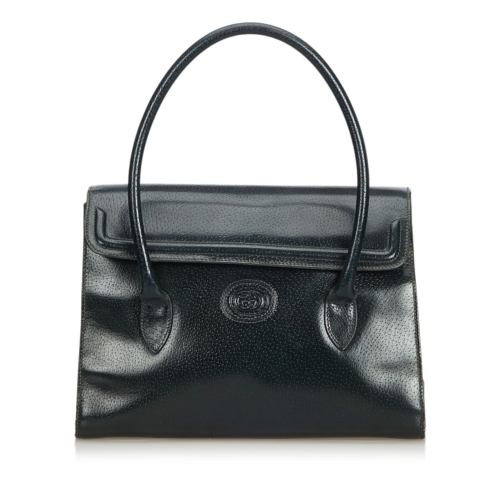 Vintage Gucci Leather Handbag Green