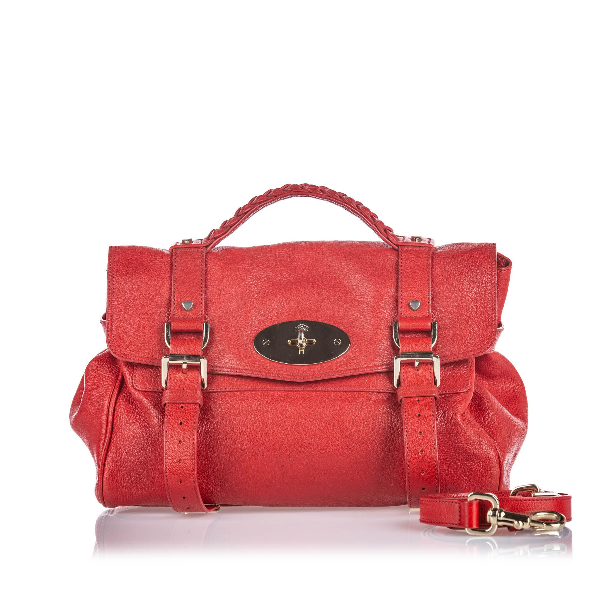 Vintage Mulberry Leather Alexa Satchel Red