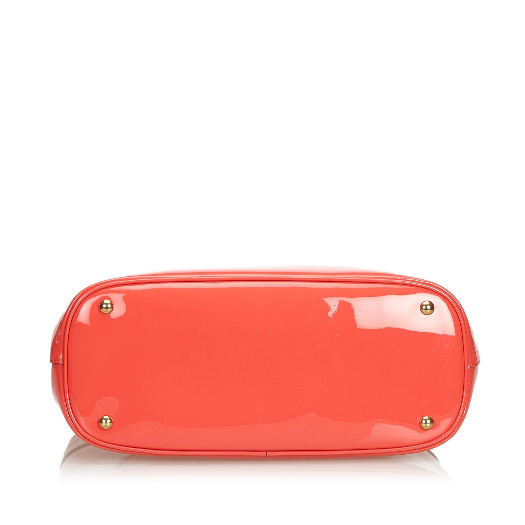 Vintage Gucci Patent Leather Bright Bit Satchel Pink