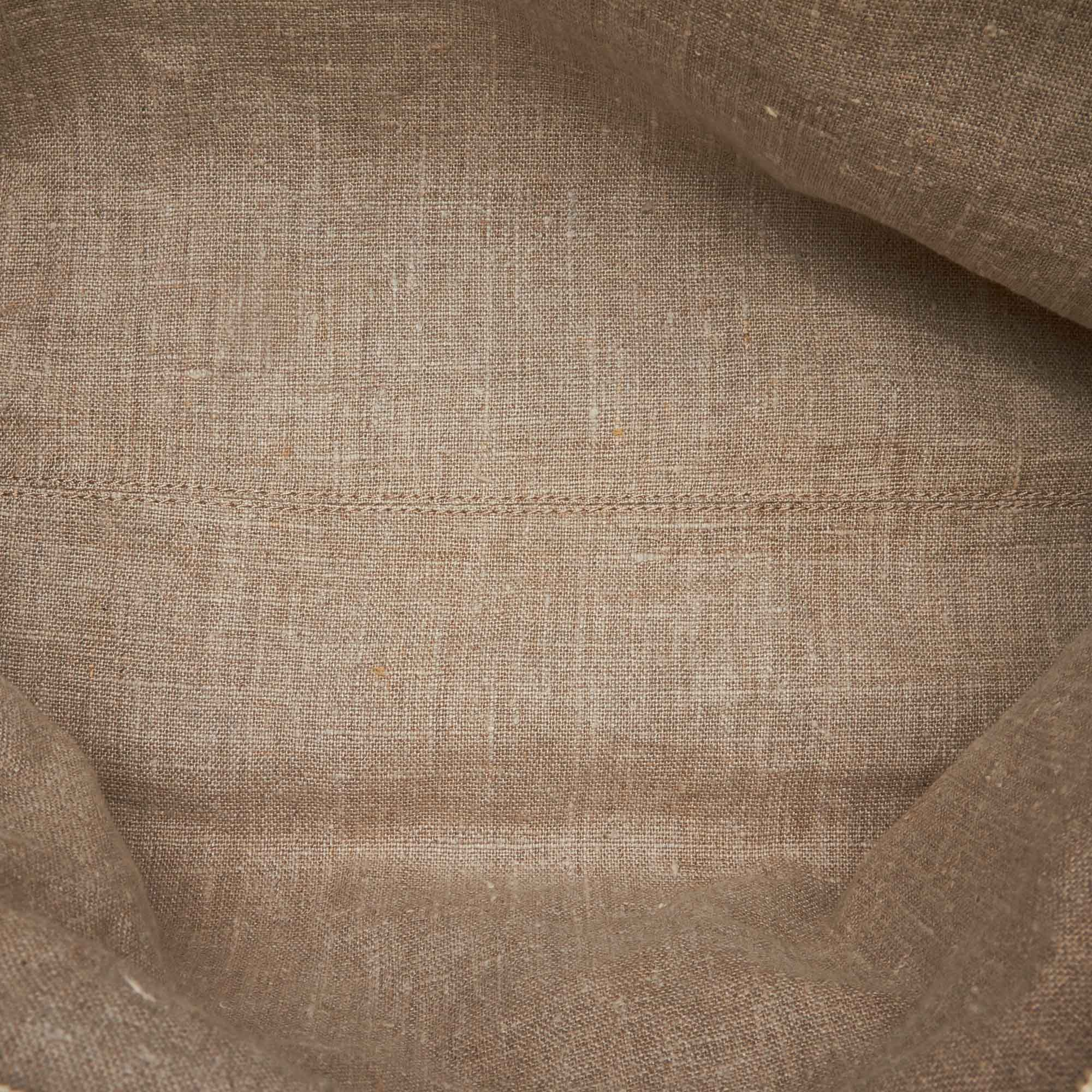 Vintage Fendi Striped Hemp Tote Brown